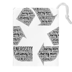 Recycling Generosity Consumption Drawstring Pouches (xxl)