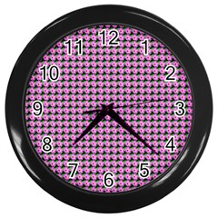 Pattern Grid Background Wall Clocks (black)