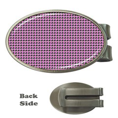 Pattern Grid Background Money Clips (oval)