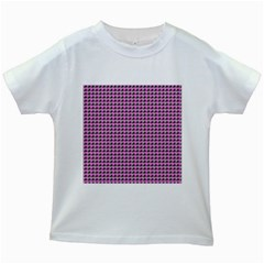 Pattern Grid Background Kids White T Shirts