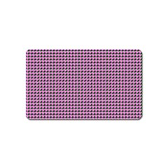 Pattern Grid Background Magnet (name Card)
