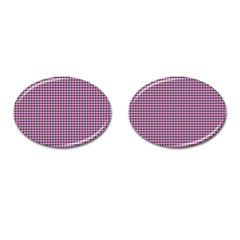 Pattern Grid Background Cufflinks (oval)