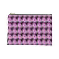 Pattern Grid Background Cosmetic Bag (large)