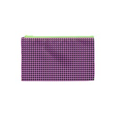Pattern Grid Background Cosmetic Bag (xs)