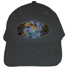 Multi Color Tile Twirl Octagon Black Cap