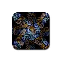 Multi Color Tile Twirl Octagon Rubber Coaster (square)