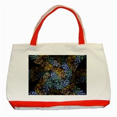 Multi Color Tile Twirl Octagon Classic Tote Bag (red)