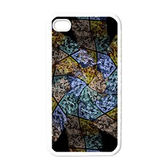 Multi Color Tile Twirl Octagon Apple Iphone 4 Case (white)
