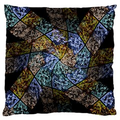 Multi Color Tile Twirl Octagon Large Cushion Case (two Sides)