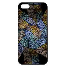Multi Color Tile Twirl Octagon Apple Iphone 5 Seamless Case (black)
