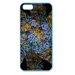 Multi Color Tile Twirl Octagon Apple Seamless Iphone 5 Case (color)