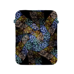 Multi Color Tile Twirl Octagon Apple Ipad 2/3/4 Protective Soft Cases
