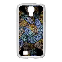 Multi Color Tile Twirl Octagon Samsung Galaxy S4 I9500/ I9505 Case (white)