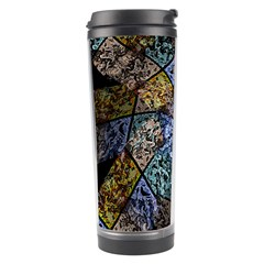 Multi Color Tile Twirl Octagon Travel Tumbler