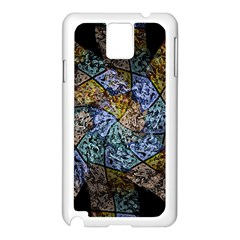 Multi Color Tile Twirl Octagon Samsung Galaxy Note 3 N9005 Case (white)