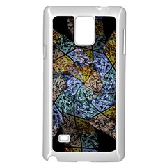 Multi Color Tile Twirl Octagon Samsung Galaxy Note 4 Case (white)