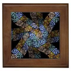 Multi Color Tile Twirl Octagon Framed Tiles