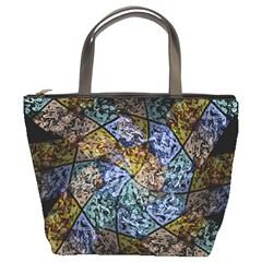 Multi Color Tile Twirl Octagon Bucket Bags