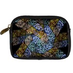 Multi Color Tile Twirl Octagon Digital Camera Cases Front