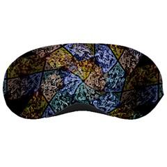 Multi Color Tile Twirl Octagon Sleeping Masks