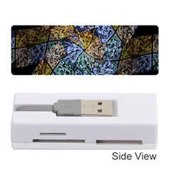 Multi Color Tile Twirl Octagon Memory Card Reader (stick)