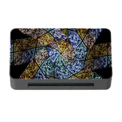 Multi Color Tile Twirl Octagon Memory Card Reader With Cf