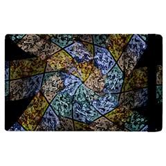 Multi Color Tile Twirl Octagon Apple Ipad 3/4 Flip Case