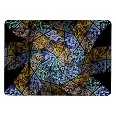 Multi Color Tile Twirl Octagon Samsung Galaxy Tab 10 1  P7500 Flip Case