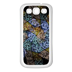 Multi Color Tile Twirl Octagon Samsung Galaxy S3 Back Case (white)