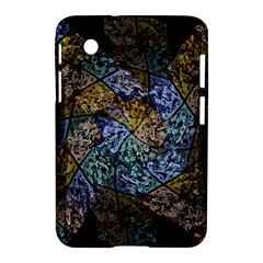 Multi Color Tile Twirl Octagon Samsung Galaxy Tab 2 (7 ) P3100 Hardshell Case