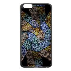 Multi Color Tile Twirl Octagon Apple Iphone 6 Plus/6s Plus Black Enamel Case