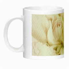Pastel Roses Antique Vintage Night Luminous Mugs