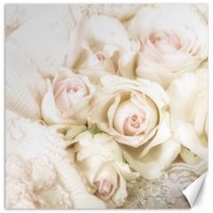 Pastel Roses Antique Vintage Canvas 20  X 20
