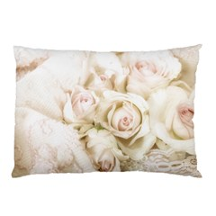 Pastel Roses Antique Vintage Pillow Case (two Sides)