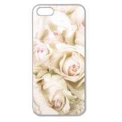Pastel Roses Antique Vintage Apple Seamless Iphone 5 Case (clear)