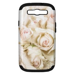 Pastel Roses Antique Vintage Samsung Galaxy S Iii Hardshell Case (pc+silicone)