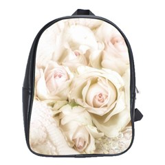 Pastel Roses Antique Vintage School Bag (xl)