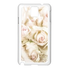 Pastel Roses Antique Vintage Samsung Galaxy Note 3 N9005 Case (white)