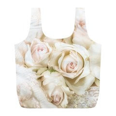Pastel Roses Antique Vintage Full Print Recycle Bags (l)