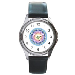 Mandala Universe Energy Om Round Metal Watch