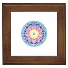 Mandala Universe Energy Om Framed Tiles