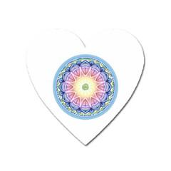 Mandala Universe Energy Om Heart Magnet