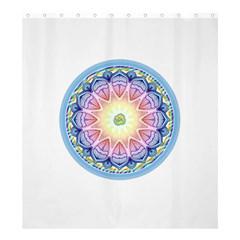 Mandala Universe Energy Om Shower Curtain 66  X 72  (large)
