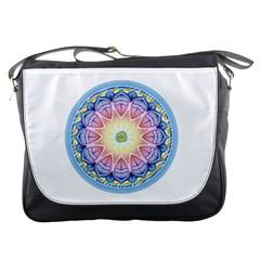 Mandala Universe Energy Om Messenger Bags