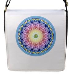 Mandala Universe Energy Om Flap Messenger Bag (s)