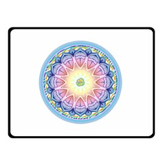 Mandala Universe Energy Om Double Sided Fleece Blanket (small)