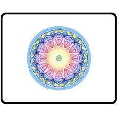Mandala Universe Energy Om Double Sided Fleece Blanket (medium)