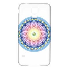 Mandala Universe Energy Om Samsung Galaxy S5 Back Case (white)