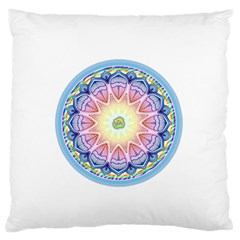 Mandala Universe Energy Om Large Flano Cushion Case (two Sides)