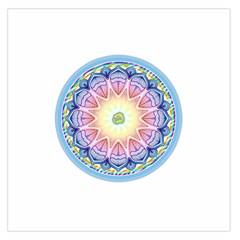 Mandala Universe Energy Om Large Satin Scarf (square)